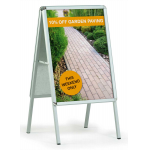 A-board pavement signs
