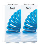 Twist banners joined together