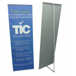 Easy banner stands combined view
