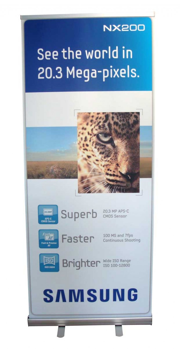 850mm wide economy pop up banners