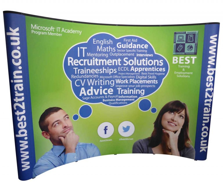 exhibition pop up stand graphics