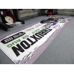 PVC banners before eyeletting