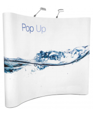 curved pop up stands