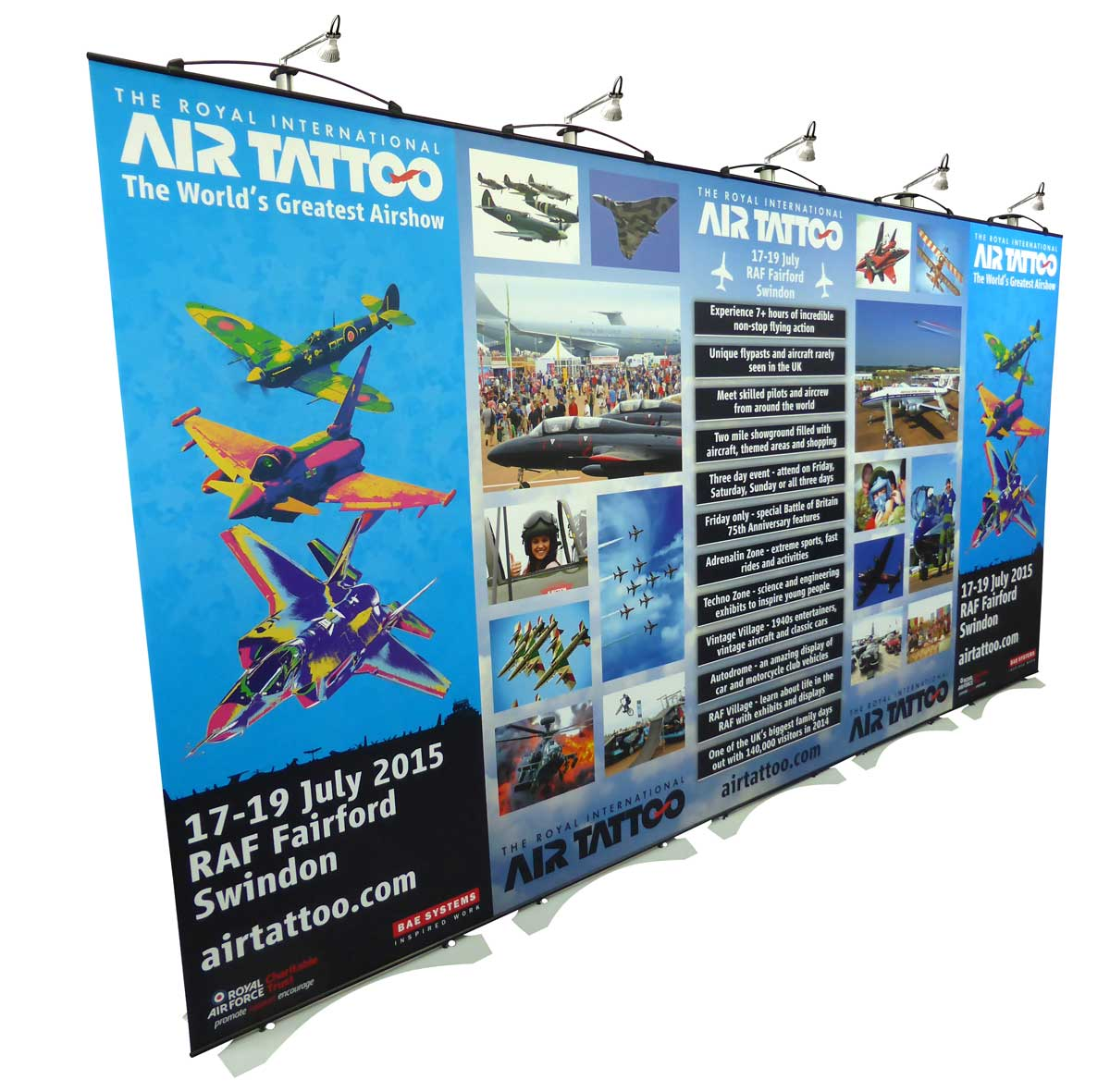 Expo Banner Stands : Twist m wide exhibition stands straight